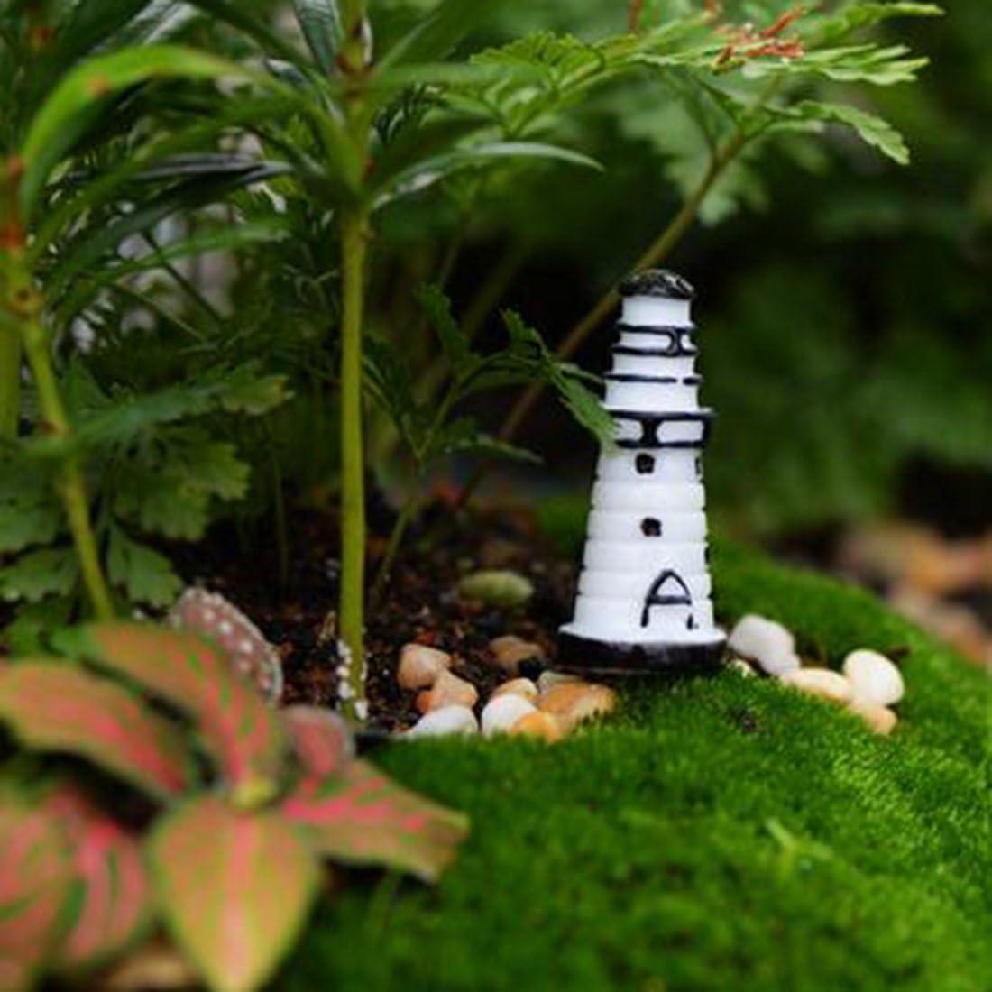 Mini mignon Phare jardinage Artisanat Ornements R/ésine Figurine D/écoration-1.4x3.1cm
