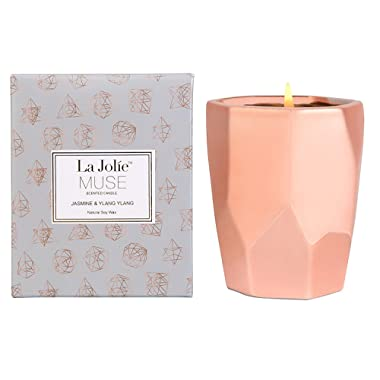 LA JOLIE MUSE Ylang Ylang Aromatherapy Scented Candle Gift,10Oz 100% Soy Wax 65 Hours Burn, Gifts for Christmas