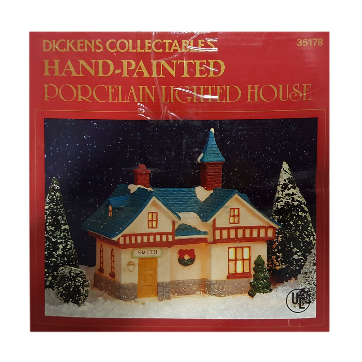 Dickens Collectibles Hand-Painted Porcelain Lighted Smith House