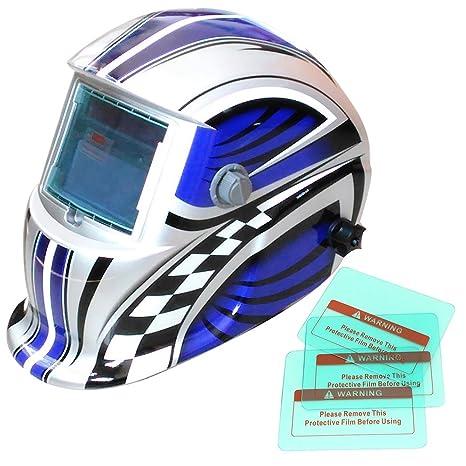 Funciona con energía solar auto oscurecimiento soldadura casco con función de molienda, 8 colores disponibles
