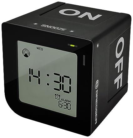 Bresser FlipMe Despertador radio controlado - negro: Amazon ...