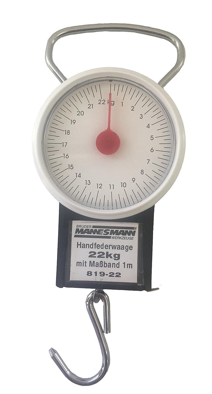 Bascula resorte con gancho - Balanza de muelle con cinta métrica (hasta 22 kg): Amazon.es: Industria, empresas y ciencia