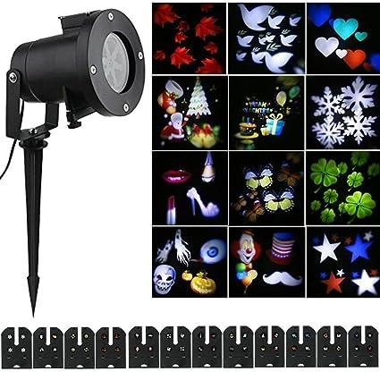 Amazon.com: Halloween Navidad Proyector luces al aire última ...
