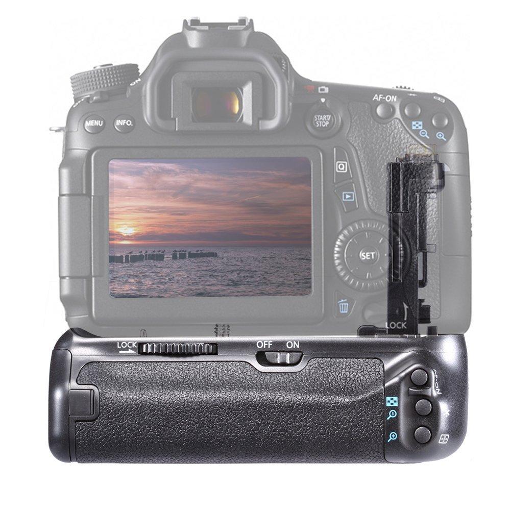 Neewer Impugnatura Portabatteria Sostituzione per Batterie a Litio di Ricambio 2000mAh per Canon LP-E6 per Reflex Digitali Canon EOS 70D 80D Cassettini per Batteria AA//LP-E6