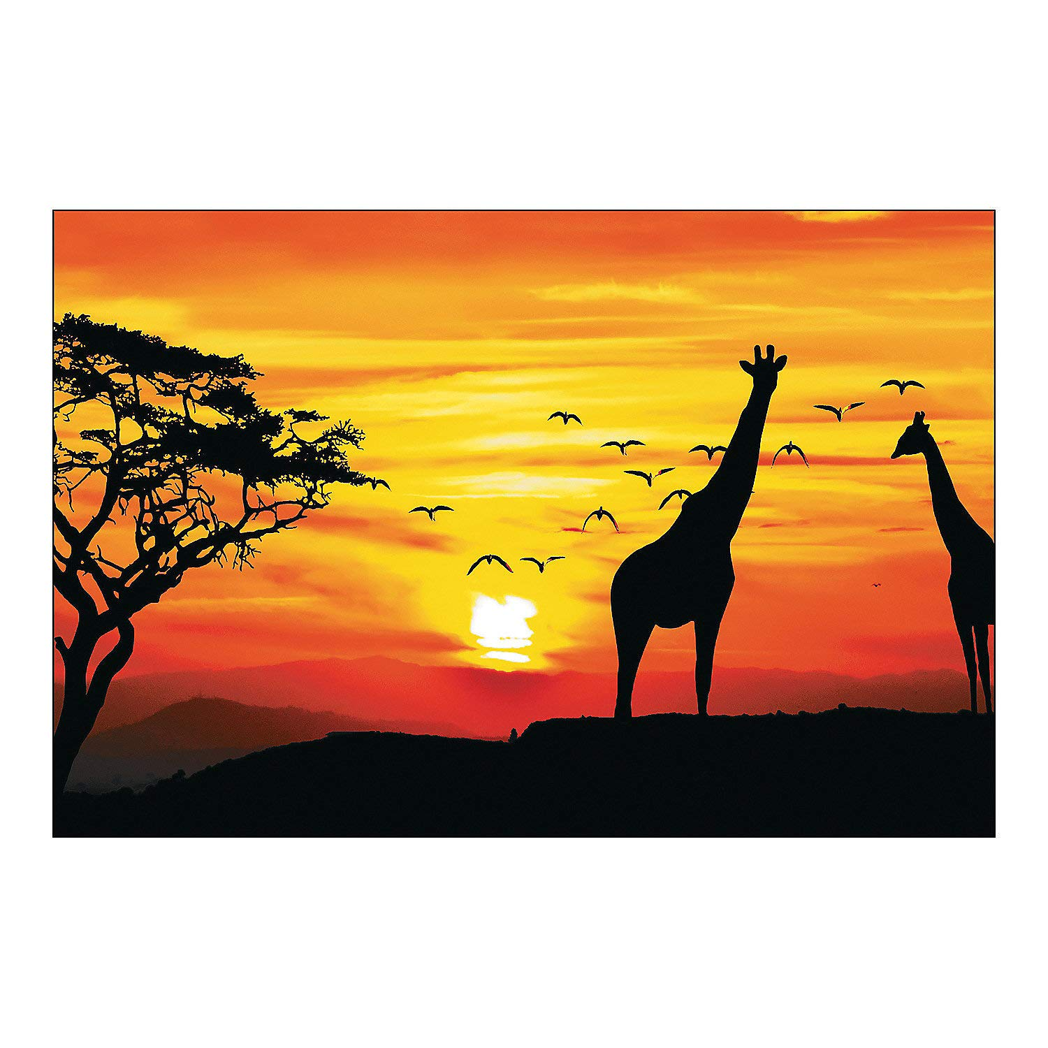 Fun Express African Safari Backdrop Banner - Party Decor - Wall Decor -  Preprinted Backdrops - 3 Pieces