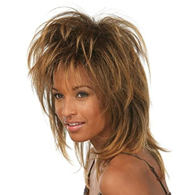 Amazoncom Tina Turner Costume Wig By Sepia Wigs Color 1b 12