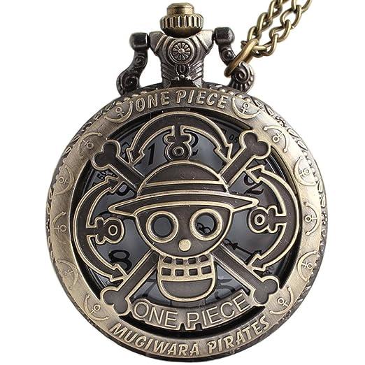 Watches Antique One Piece Pirate Skull Pocket Watch Vintage Steampunk Quartz Necklace Watch With Chain For Children Boy Gift