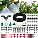 PATHONOR Garden Irrigation System, 50ft/15m Drip Irrigation Kit with Adjustable Nozzles Drippers Distribution Tubing…