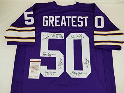 outlet store c40c8 c2682 8 Minnesota Vikings Greats Signed Jersey Witness Auto COA ...