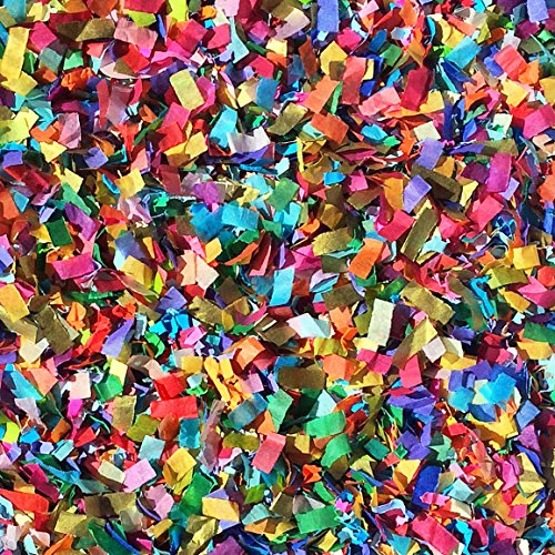 Vibrant Confetti Mix Biodegradable Colourful Multi-Coloured Party Decorations Wedding Throwing Table Décor Bulk Pack InsideMyNest (25 Handfuls)]()