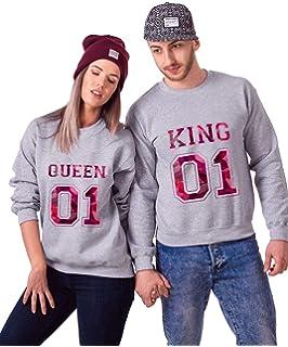 TISFAN Pärchen Partner Hoodie Set King Queen Pullover Paar