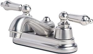 Laguna Brass 2004BN RV Mobile Home Non-Metallic Centerset Lavatory Faucet, Brushed Nickel Finish