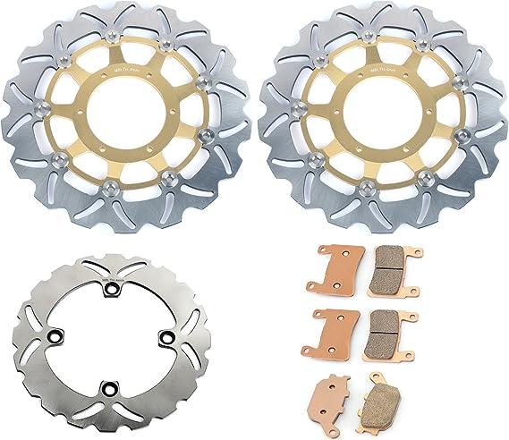 TARAZON Gold Front Brake Rotors Disc /& Pads for Honda CBR600F4i Sport 2001-2006