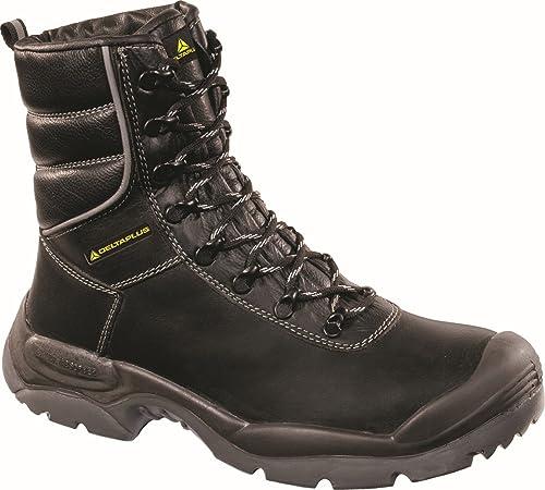 Delta plus calzado - Bota piel flor s3 negro talla 39