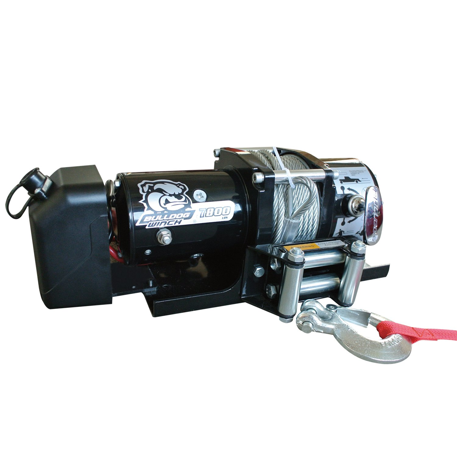 BULLDOG Winch 10031 Winch (7800lb Trailer with 47.6 ft. Wire Rope, Roller Fairlead, Mounting Plate, Low Profile)