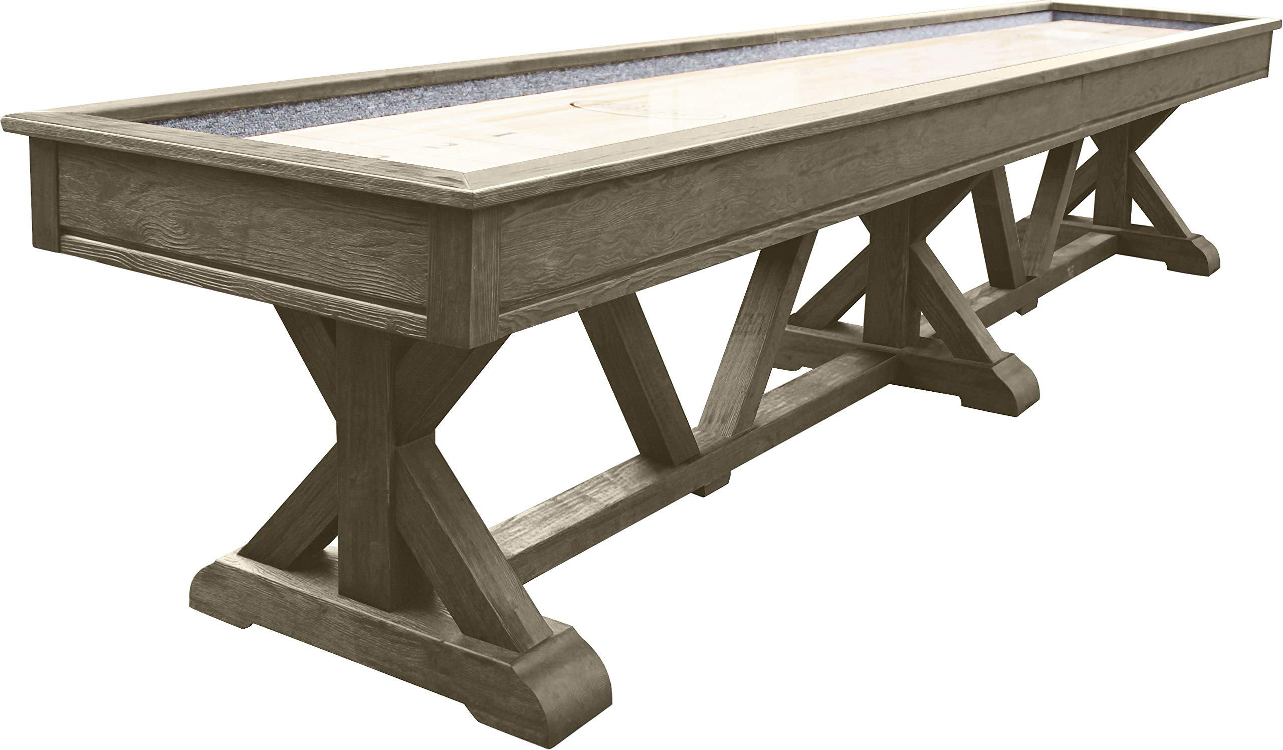 Playcraft Brazos River 16' Weathered Gray Pro-Style Shuffleboard Table by Playcraft
