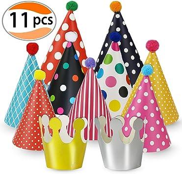 Amazon.com: Sombreros de fiesta Cefanty, paquete de 11 ...