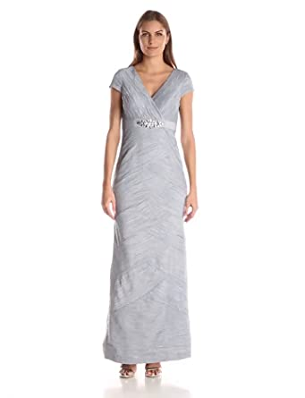 7ecf9791dc1 Amazon.com  Jessica Howard Women s Cap-Sleeve Beaded Waist Dress ...