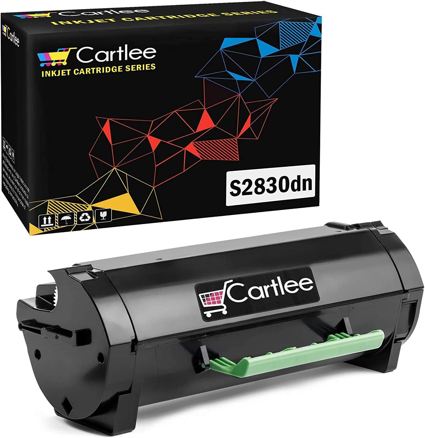 Cartlee Compatible Black S2830 High Yield Laser Toner Cartridge Replacement for Dell (8500 Page Yield) S2830 S2830dn 2830 dn 2830dn Smart Series Ink Printers