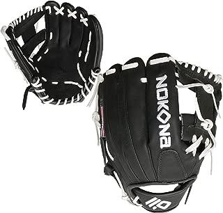 product image for Nokona AmericanKip Black 11.5 Inch A-1150I-BK WH Baseball Glove (White Lacing)