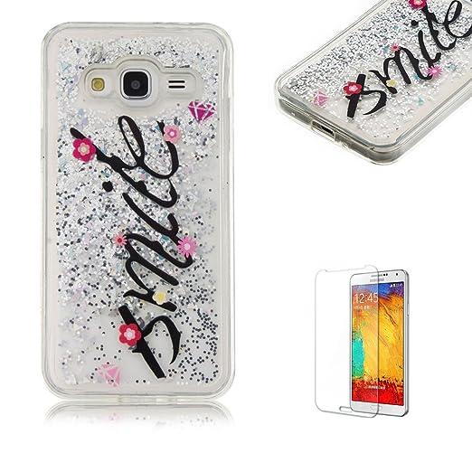 4 opinioni per Custodia Per Samsung Galaxy J3 2016 Cover in Silicone Morbida,Funyye Brillantini