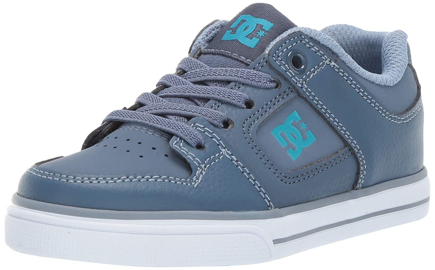 DC Shoes Pure Elastic Suede Lace-Up Low-Top Sneakers Youth Trainers