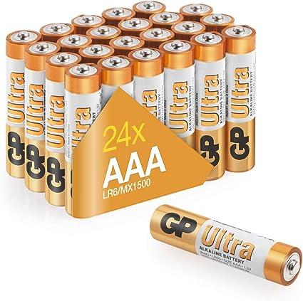 Gp - Pack 24 pilas ultra alcalinas aaa (lr03): Amazon.es: Salud y ...