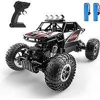 DEERC DE45 RC Cars Remote Control Car 1:14 Off Road Monster Truck,Metal Shell 4WD Dual Motors LED Headlight Rock Crawler…