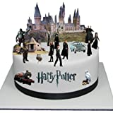 Stand Up Classic Harry Potter Cake Scene Premium Edible Wafer Paper Cake Toppers - Easy to Use