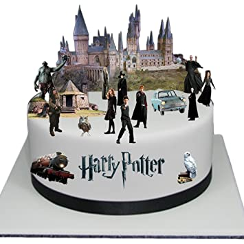 Stand Up Classic Harry Potter Cake Scene Premium Edible Wafer Paper