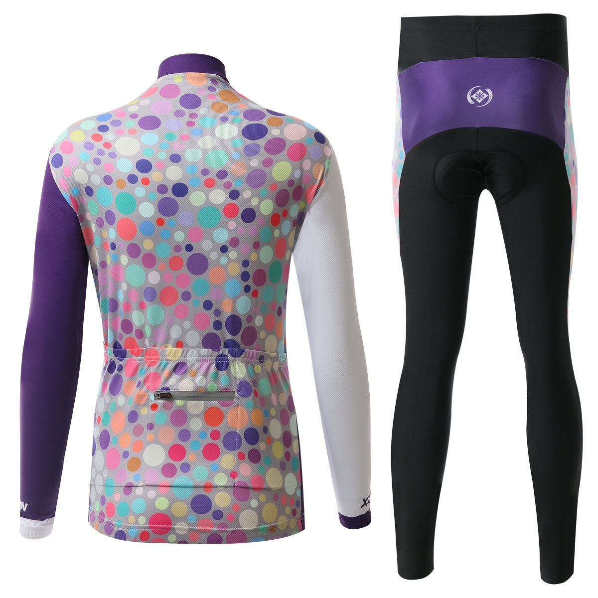 Amazon.com  Ophelia Outdoor Purple Women s Cold Winter Fleece Long Sleeve  Cycling Jersey Pants Set  Clothing a57ed00ae