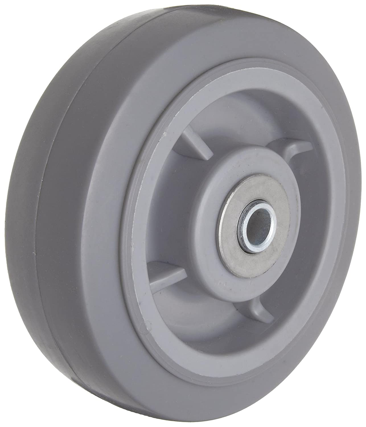RWM Casters Performance TPR Rubber Wheel Roller Bearing 350 lbs