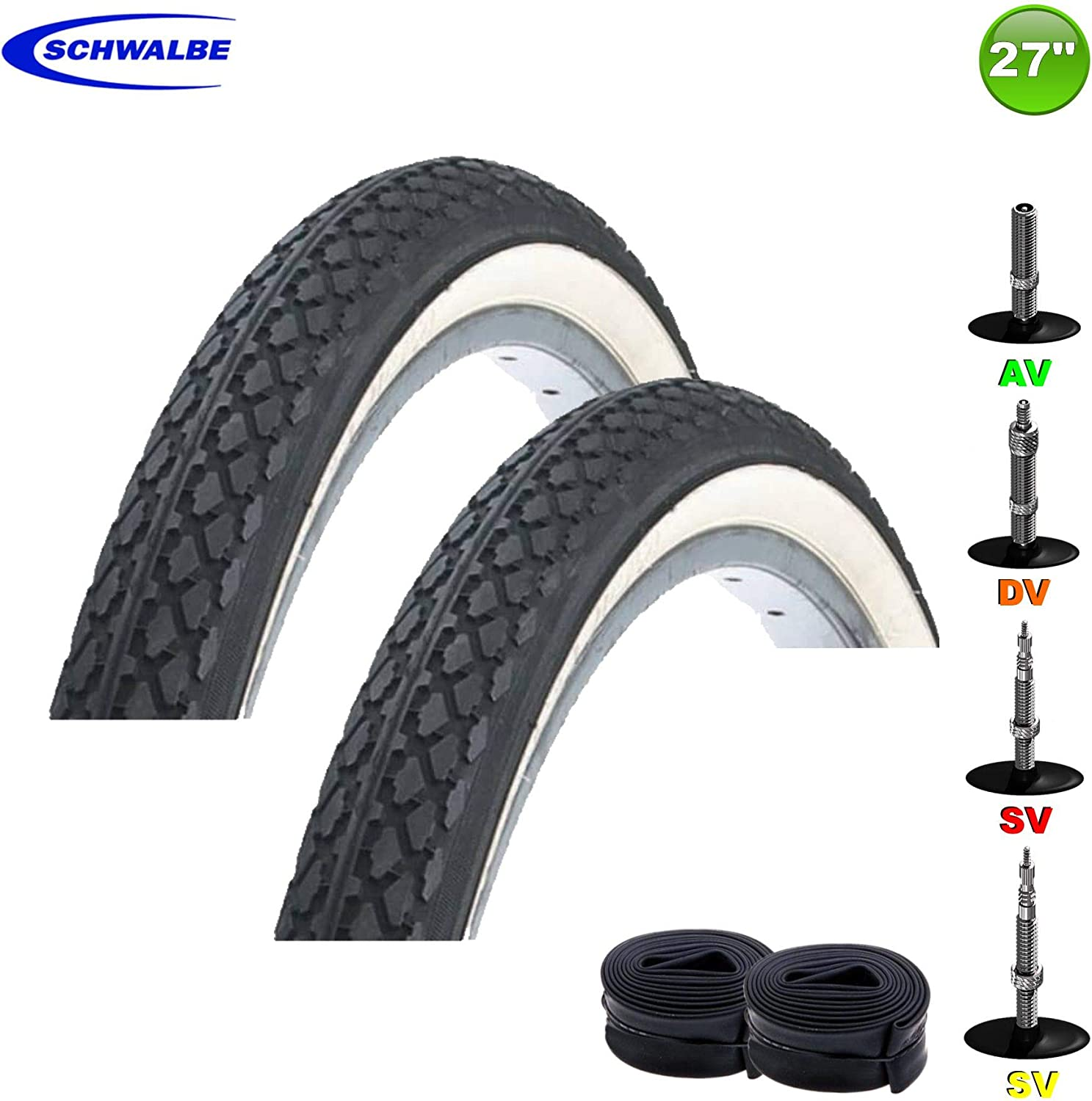 """27/"""" inch Bicycle Bike Cycle Inner Tube 27/"""" x 1-1//4/"""" New FREE Shipping USA Seller"""