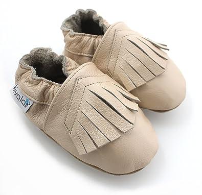 bd48d5d0b4647 Kivala - Chaussons cuir souple Camel - 30-31  Amazon.fr  Chaussures ...