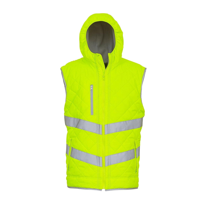 Yoko Unisex Adults Hi Vis Kensington Hooded Gilet Pack of 2