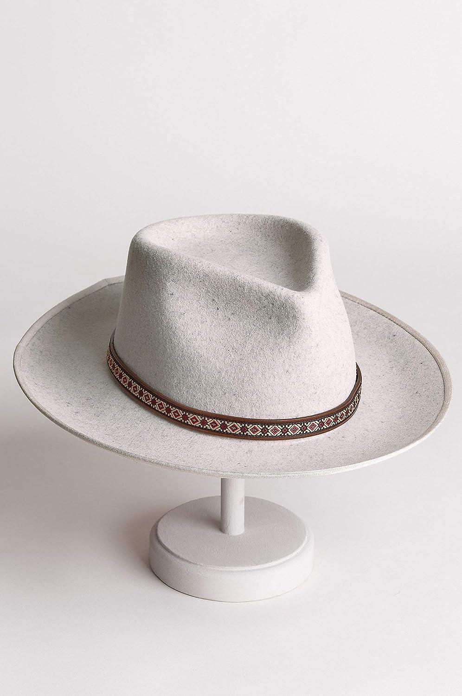 Overland Sheepskin Co Alpes Wide Brim Wool Felt Fedora Hat