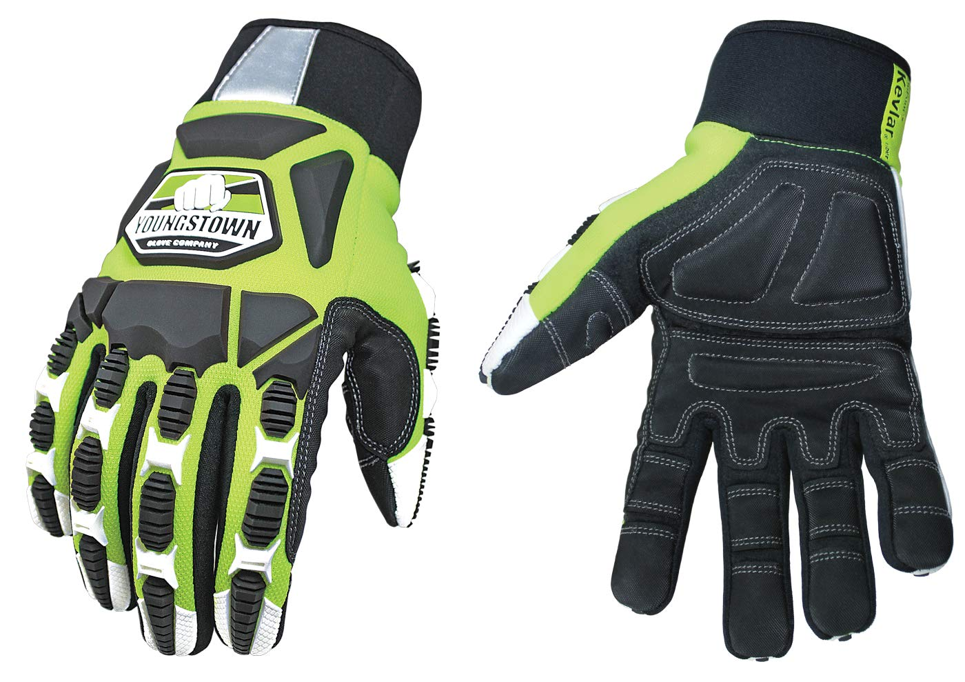 Cut Resistant Gloves Bundle - 1 - Firefighter Extrication Gloves (Large) | 1 - Glove Strap (lime Green) | 1 - Firefighter Journal (Track training hours, Run activities, work, ect.) by Generic (Image #3)