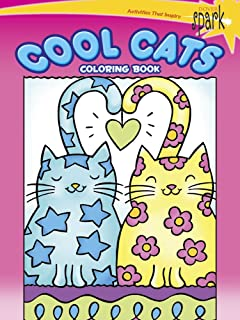 SPARK Cool Cats Coloring Book Dover Books