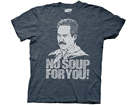 a4a7faeb Amazon.com: Ripple Junction Seinfeld No Soup for You Adult T-Shirt: Clothing