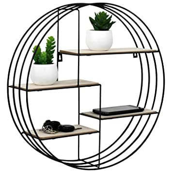 deko wandregal schwarz haus 2er set metall gitter. Black Bedroom Furniture Sets. Home Design Ideas
