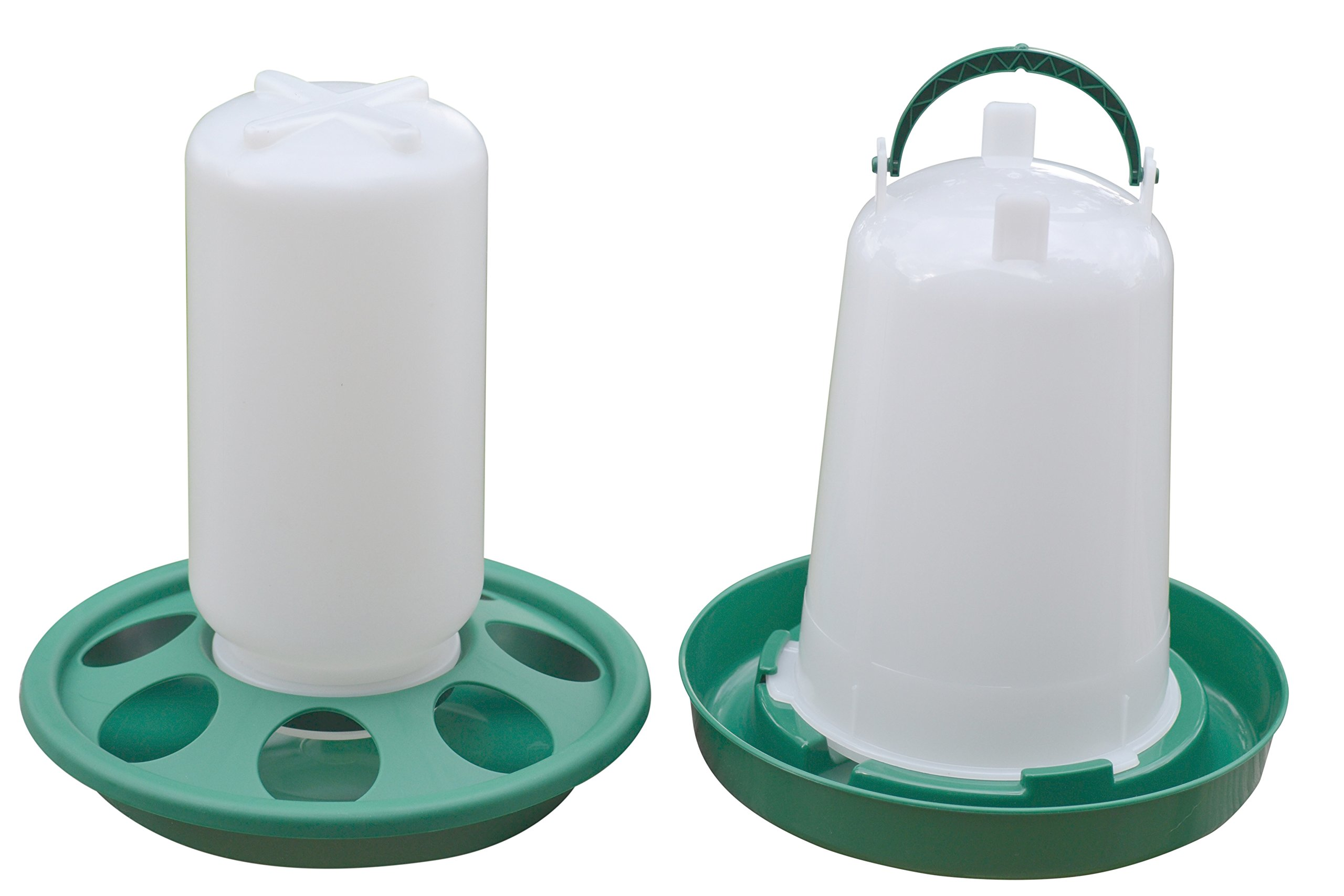 RentACoop Chick Feeder and Waterer Kit (1.5 L Waterer and 1L Feeder Kit)