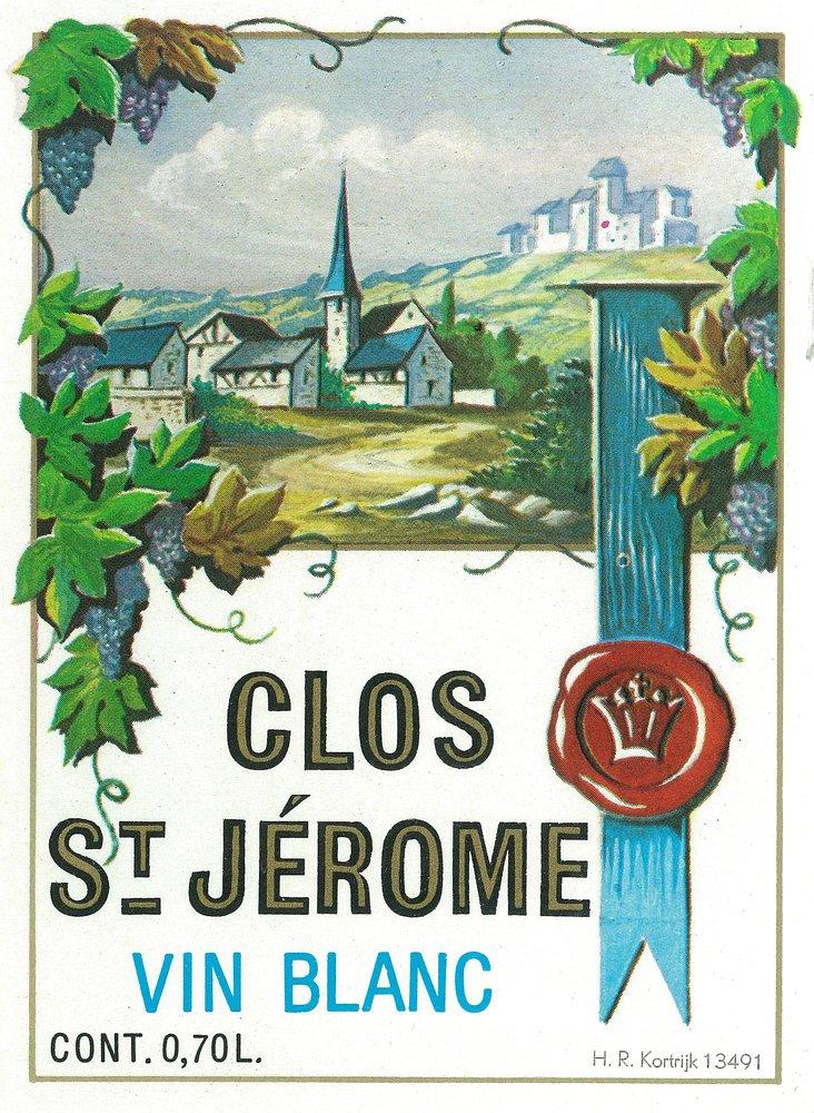 Clos St Jermoeワインラベル 16 x 24 Giclee Print LANT-4607-16x24 B00Z4UA3EE  16 x 24 Giclee Print