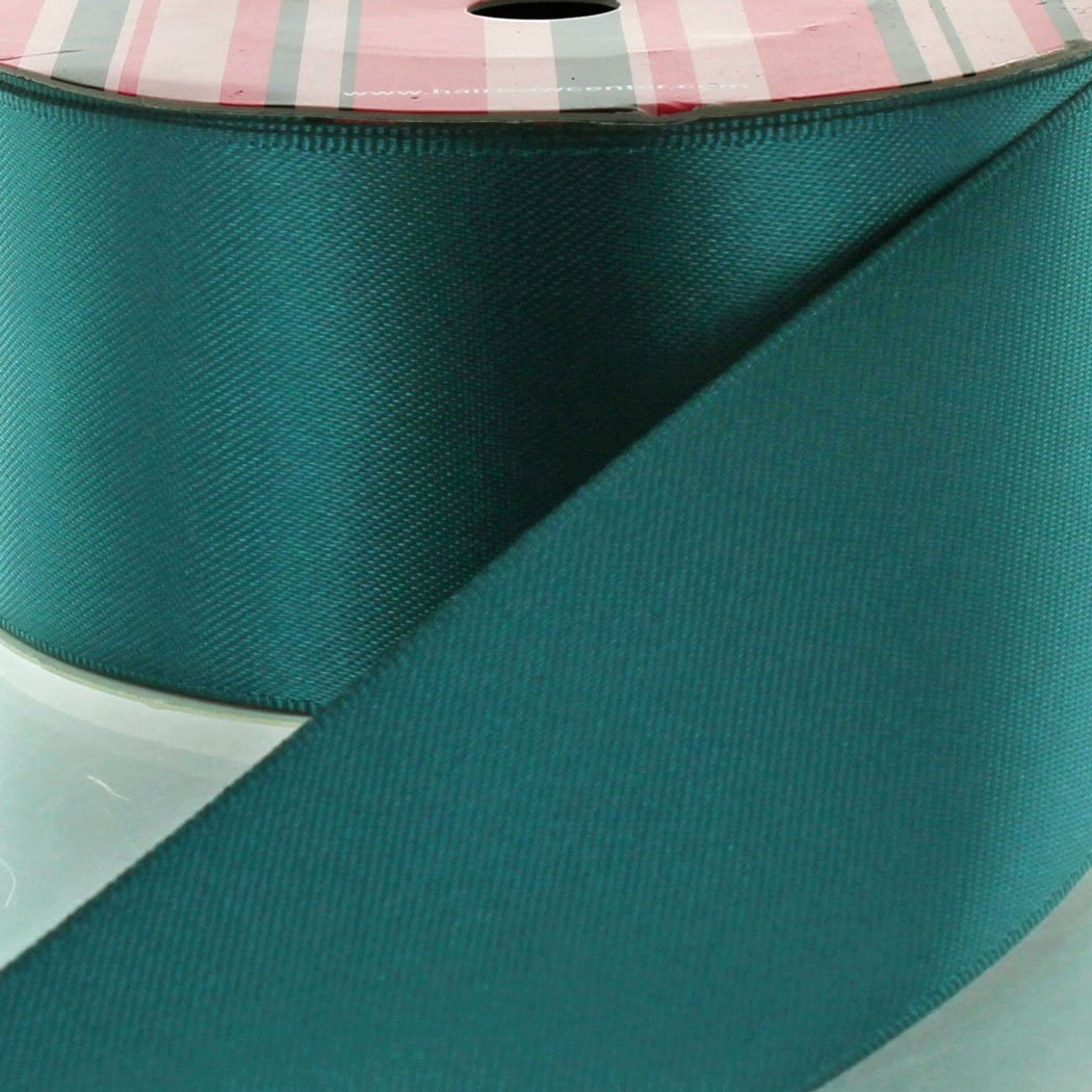 3'' Teal Double Faced Satin Ribbon 25yd