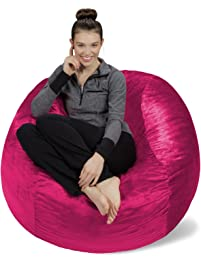 Sofa Sack Bean BagsMemory Foam Bag Chair 4 Magenta