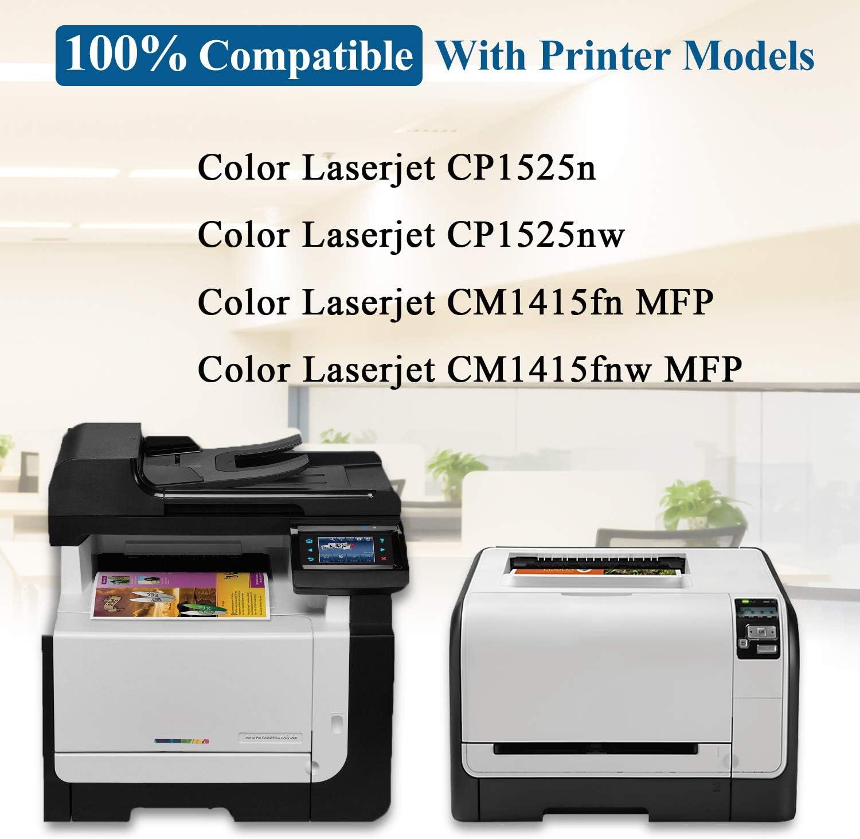 128A 2BK//2C//2Y//2M CE320A CE321A CE322A CE323A Compatible Remanufactured Toner Cartridge Replacement for HP Color Laserjet CP1525n CP1525nw CM1415fn CM1415fnw Printer Toner Cartridge. 8-Pack
