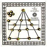 Ancient Living Puli Meka / Bagh Chaal / Goats & Tigers / Aadu Puli Aattam Board Game