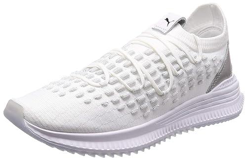 9aa259c76e06 Puma Unisex s AVID Fusefit White-Silver Whit P Blk-Drk Shdw-TSea Sneakers