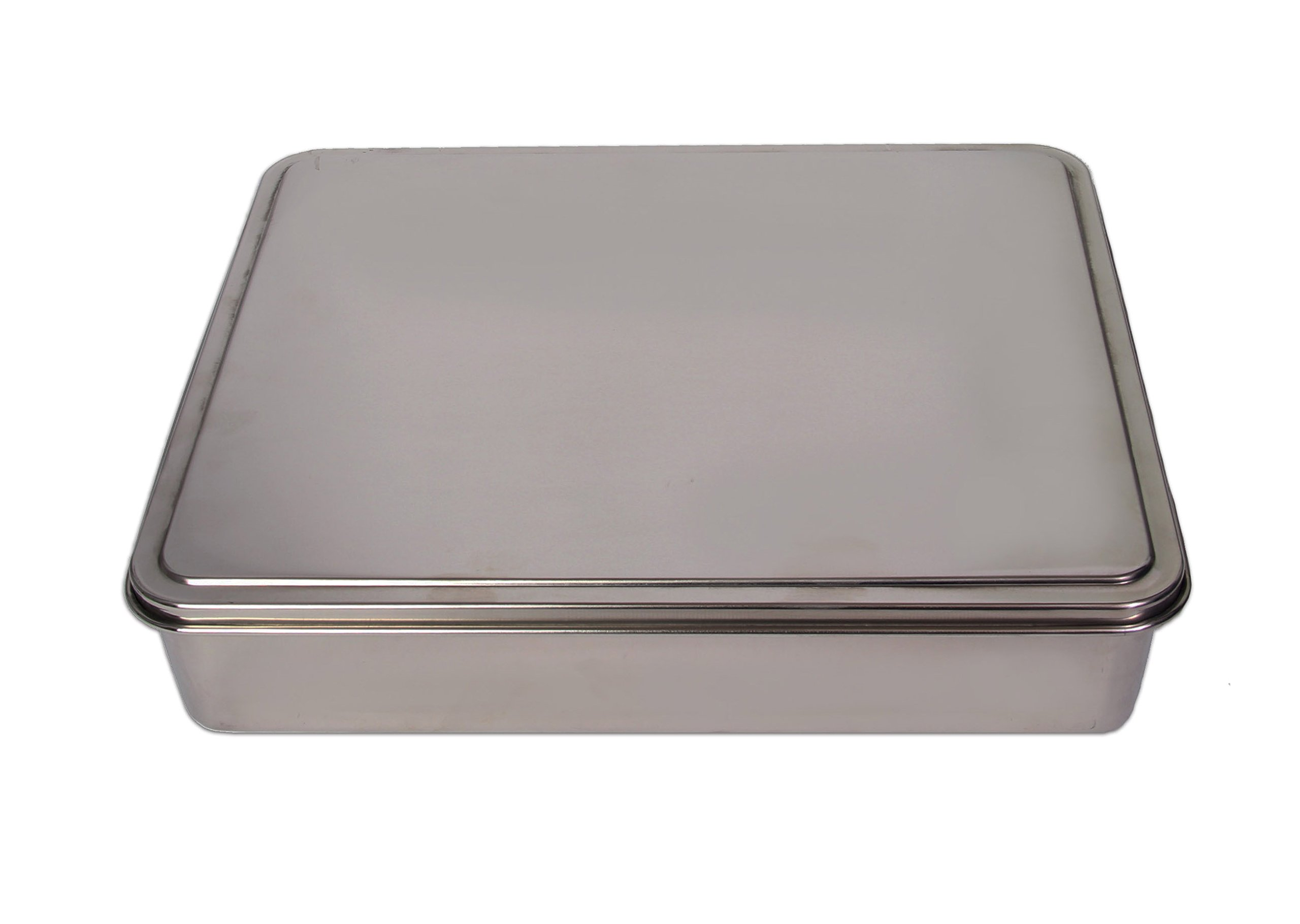 YBM HOME Stainless Steel Covered Cake Pan, Silver (Medium-2402)