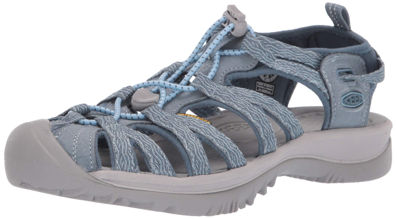 KEEN Women's Whisper Sandal, citadel/blue mirage, 6.5 M US