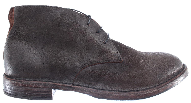 MOMA Herren Schuhe Made Desert Boots 66704-R2 Pelle Wildleder Grau Made Schuhe Italy Vintage ca8e79